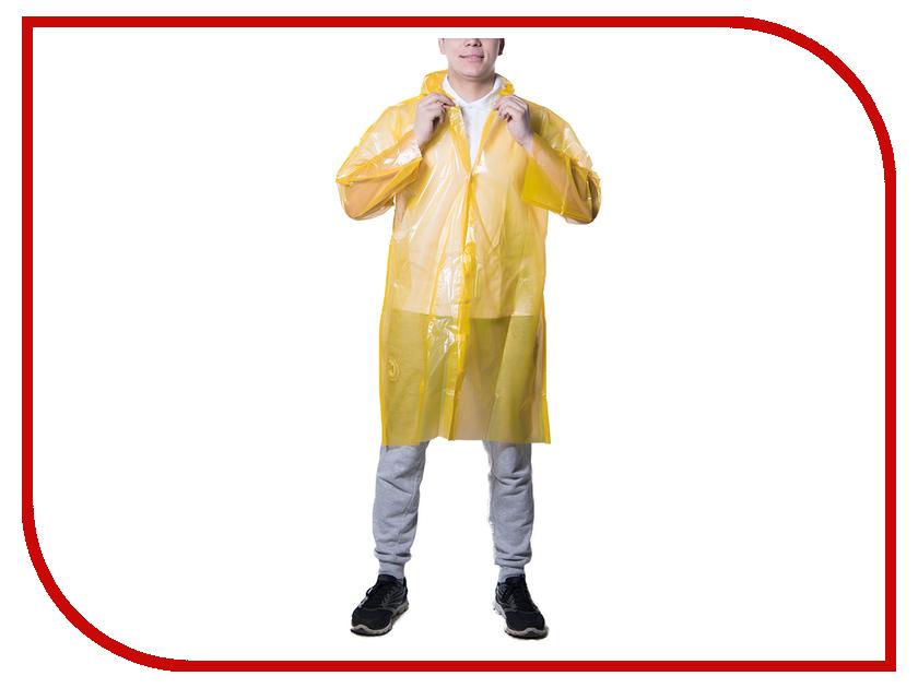 Влагозащитная одежда Русский дождевик Стандарт-2 50 мкр Yellow плащ-дождевик
