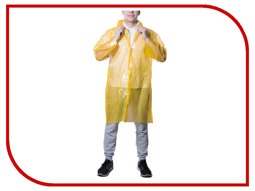 Плащ-дождевик Русский дождевик Стандарт-2 50мкр р.UNI Yellow