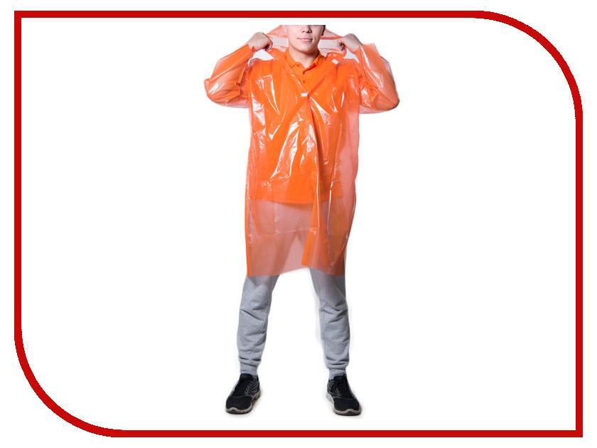 Влагозащитная одежда Русский дождевик Стандарт-2 50 мкр Orange плащ-дождевик