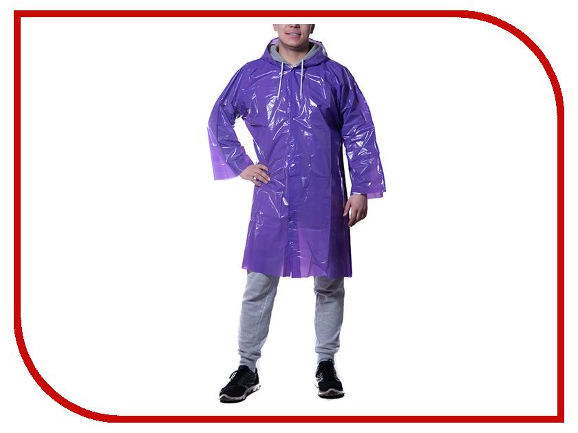 Влагозащитная одежда Русский дождевик Люкс 80 мкр Violet плащ-дождевик<br>