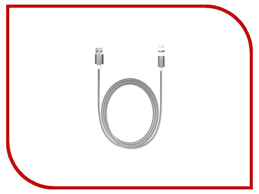 Аксессуар Smarterra QuickJack USB 2.0 / APPLE Lightning 8-pin White - магнитный кабель<br>