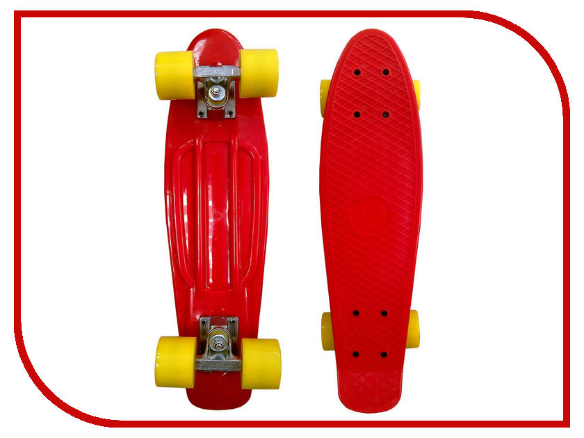 Скейт EcoBalance Cruiser Board Red Yellow
