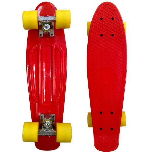 Скейт EcoBalance Cruiser Board Red Yellow