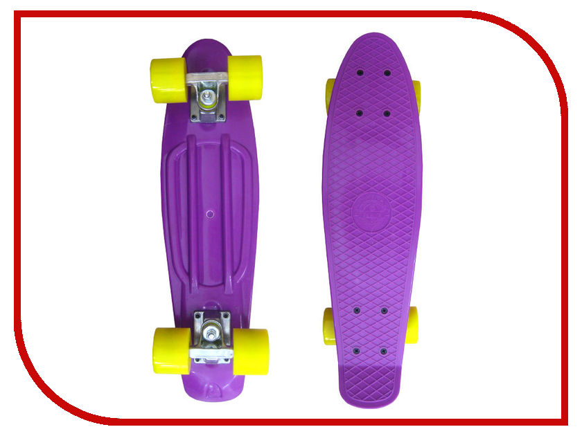 Скейт EcoBalance Cruiser Board Violet Yellow