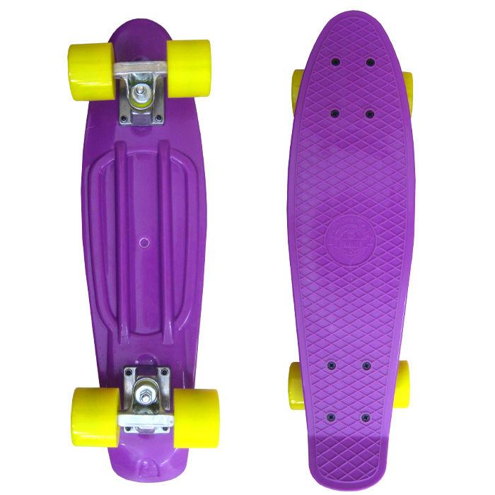 Скейт EcoBalance Cruiser Board Violet Yellow скейт ecobalance cruiser board blue yellow