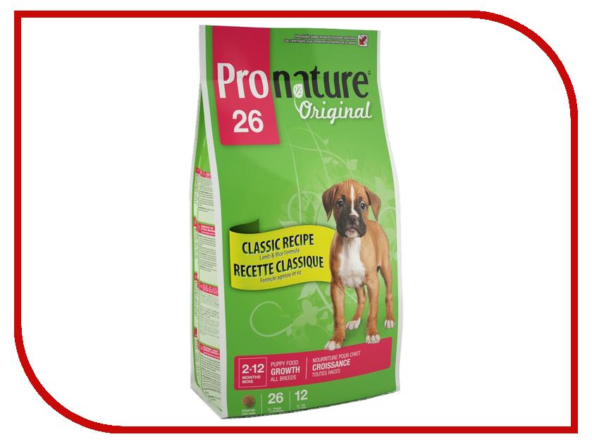Корм Pronature Формула роста ягненок-рис 26 13kg для щенков 102.553<br>