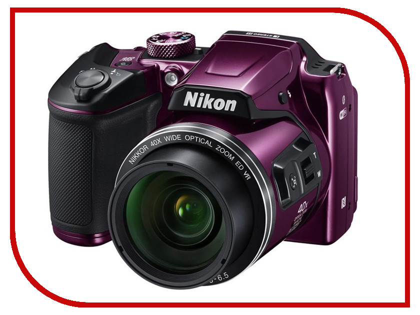 Zakazat.ru: Фотоаппарат Nikon B500 Coolpix Plum