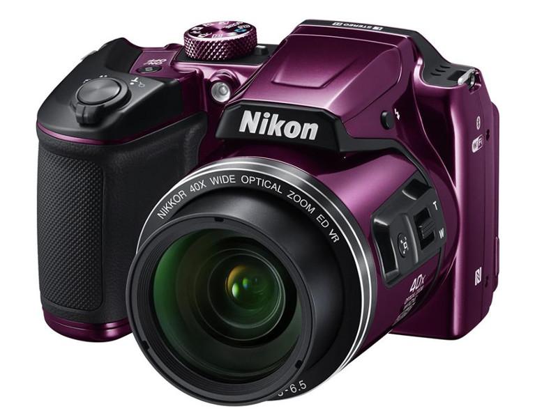 лучшая цена Фотоаппарат Nikon B500 Coolpix Plum