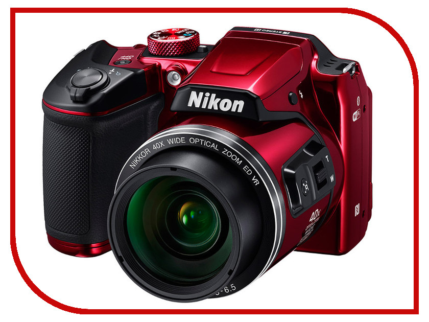 Фотоаппарат Nikon B500 Coolpix Red<br>