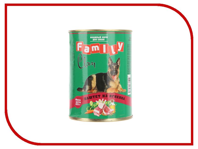 Корм Clan Family Паштет из ягненка 970g для собак 130.1.622<br>