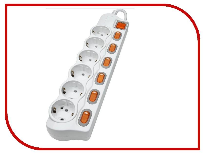 Сетевой фильтр Daesung MC2365 6 Sockets 5m<br>