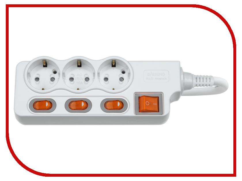 Сетевой фильтр Daesung MC2333 3 Sockets 3m