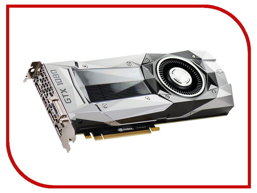 Видеокарта EVGA GeForce GTX 1080 1607Mhz PCI-E 3.0 8192Mb 10000Mhz 256 bit DVI HDMI HDCP FOUNDERS EDITION 08G-P4-6180-KR<br>