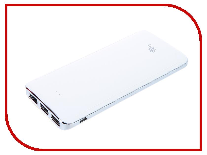 ����������� Aksberry K10 Li-Pol 3xUSB 10000mAh White