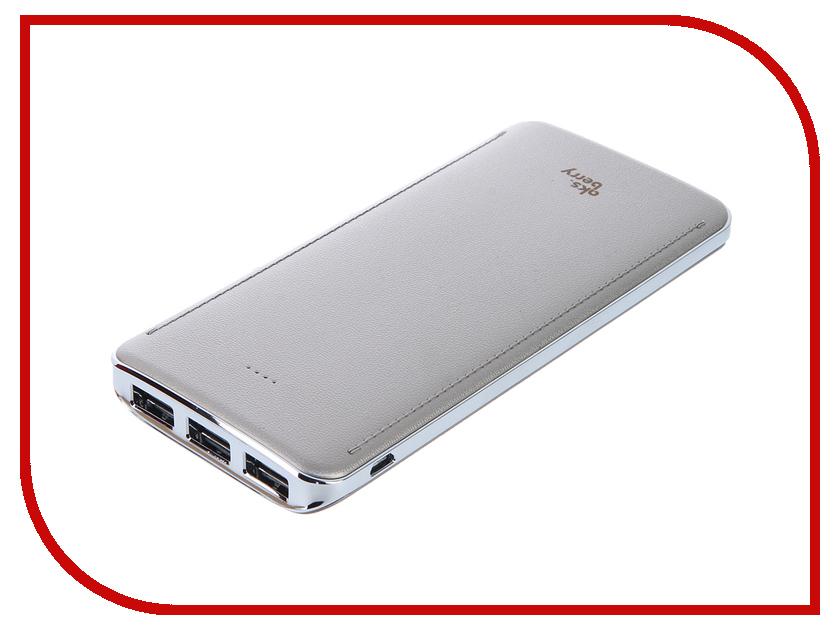 Аккумулятор Aksberry K10 Li-Pol 3xUSB 10000mAh Gold<br>