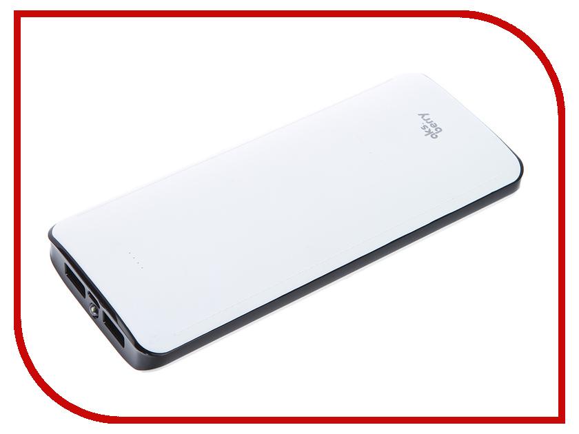 Аккумулятор Aksberry K12 Li-Ion 12000mAh 2xUSB White<br>