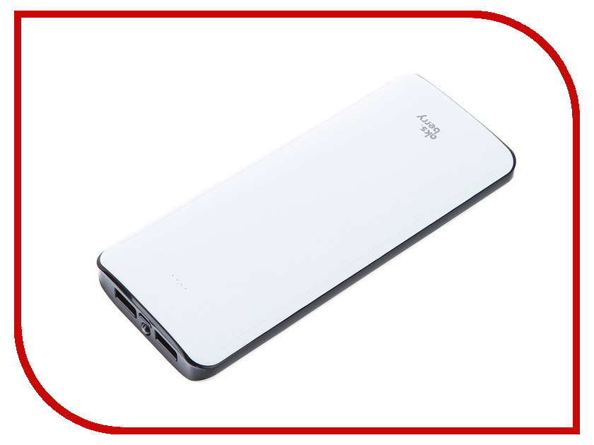 Аккумулятор Aksberry K12-1 Li-Ion 15600mAh 2xUSB White<br>