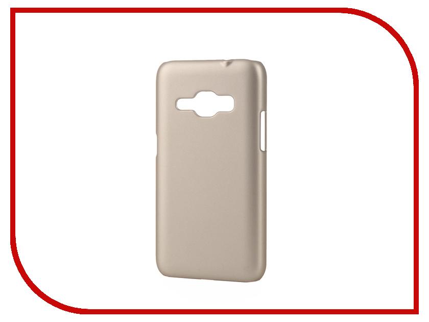 Аксессуар Чехол Samsung Galaxy J1 2016 Pulsar Clipcase PC Soft-Touch Gold PCC0193<br>