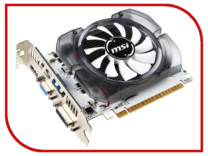 Видеокарта MSI GeForce GT 730 700Mhz PCI-E 2.0 4096Mb 1000Mhz 128 bit DVI HDMI HDCP N730-4GD3V2