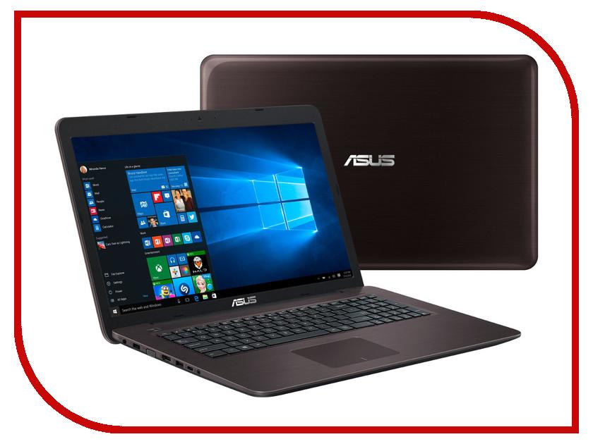 Ноутбук ASUS K756UJ Dark Brown 90NB0A21-M00890 (Intel Core i3-6100U 2.3 GHz/6144Mb/1000Gb/DVD-RW/nVidia GeForce 920M 2048Mb/Wi-Fi/Bluetooth/Cam/17.3/1600x900/Windows 10 64-bit) ноутбук asus k751sj 90nb07s1 m00320 intel pentium n3700 1 6 ghz 4096mb 1000gb dvd rw nvidia geforce 920m 1024mb wi fi bluetooth cam 17 3 1600x900 dos