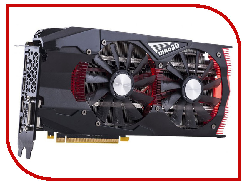 Видеокарта Inno3D GeForce GTX 1060 1569Mhz PCI-E 3.0 6144Mb 8200Mhz 192 bit DVI HDMI HDCP Gaming OC N1060-1SDN-N5GNX<br>