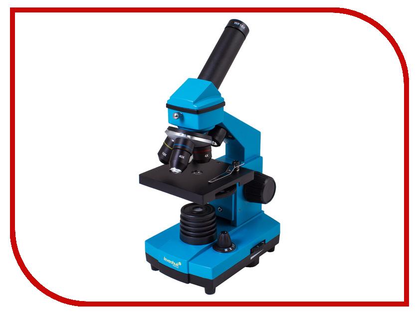 Микроскоп Levenhuk Rainbow 2L PLUS Azure микроскоп levenhuk rainbow 50l moonstone 69046
