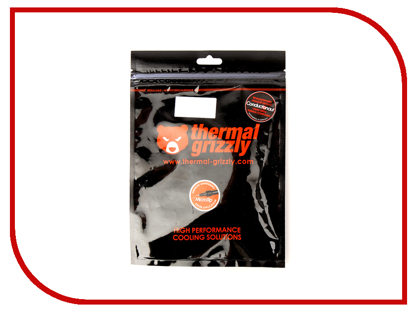 Термопаста Thermal Grizzly Conductonaut 1г TG-C-001-R thermal grizzly kryonaut thermal grease tg k 001 rs ru шприц 1 гр