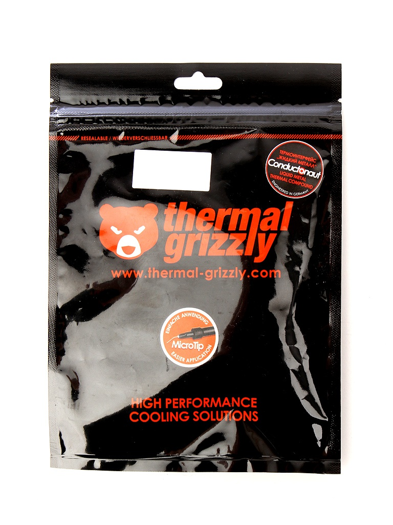 Термопаста Thermal Grizzly Conductonaut 1г TG-C-001-R