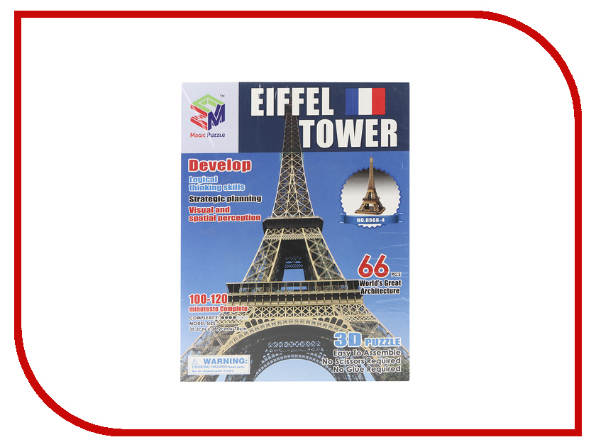 3D-пазл Magic Puzzle Elffiel Tower 78x38x35cm RC38444<br>