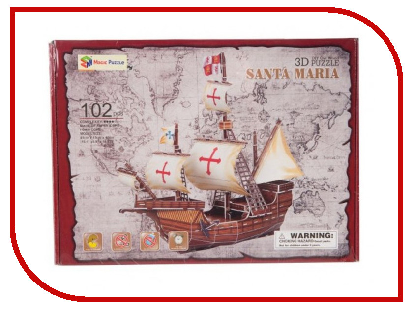 3D-пазл Magic Puzzle Santa Maria RC38439<br>