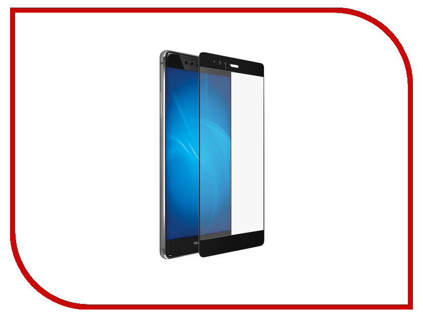 Аксессуар Закаленное стекло Huawei P9 Plus DF Fullscreen hwColor-02 Black<br>