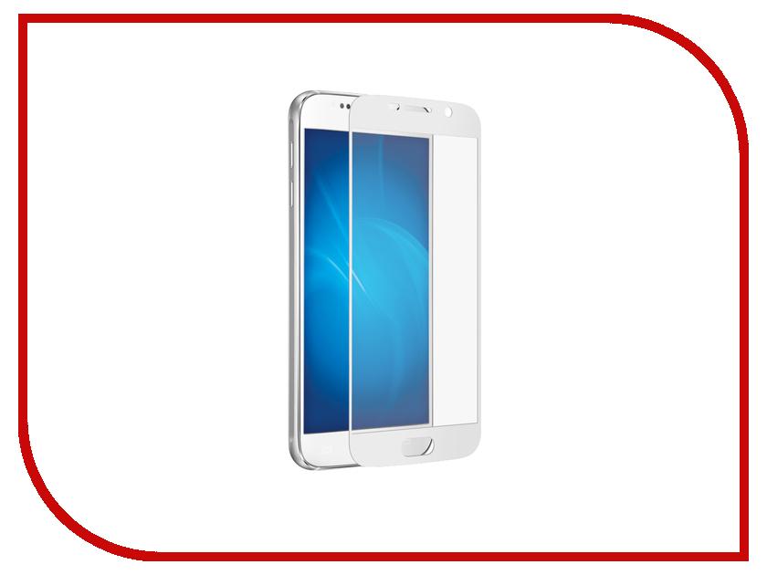 Аксессуар Закаленное стекло Samsung Galaxy S7 DF Fullscreen sColor-08 White<br>