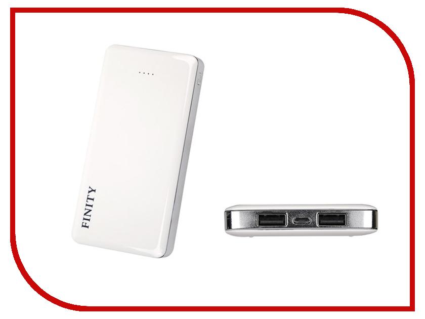 Аккумулятор Finity Dual USB 10000 mAh Рифленый Matte White<br>