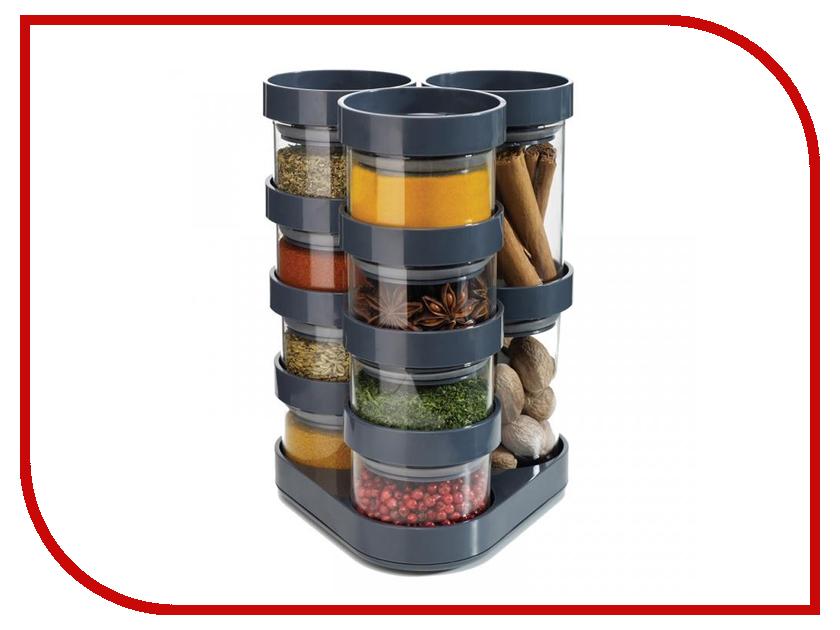 Кухонная принадлежность Joseph Joseph Spice Store Carousel Grey Набор емкостей для хранения специй 81004<br>