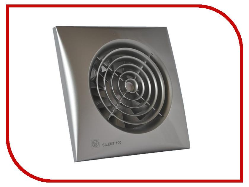 Вытяжной вентилятор Soler &amp; Palau SILENT-100 CHZ Silver<br>