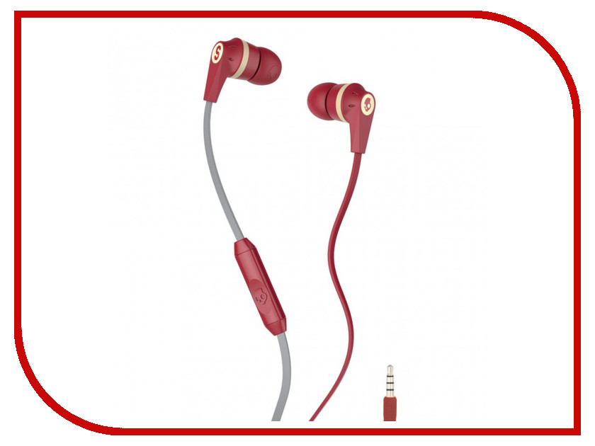 Skullcandy Ink D with Mic Dark Red S2IKHY-481 гарнитура skullcandy ink d wireless w mic street gray home s2ikw k610