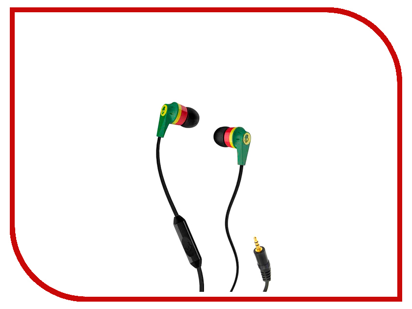 Гарнитура Skullcandy Ink D with Mic Rasta S2IKDY-102<br>