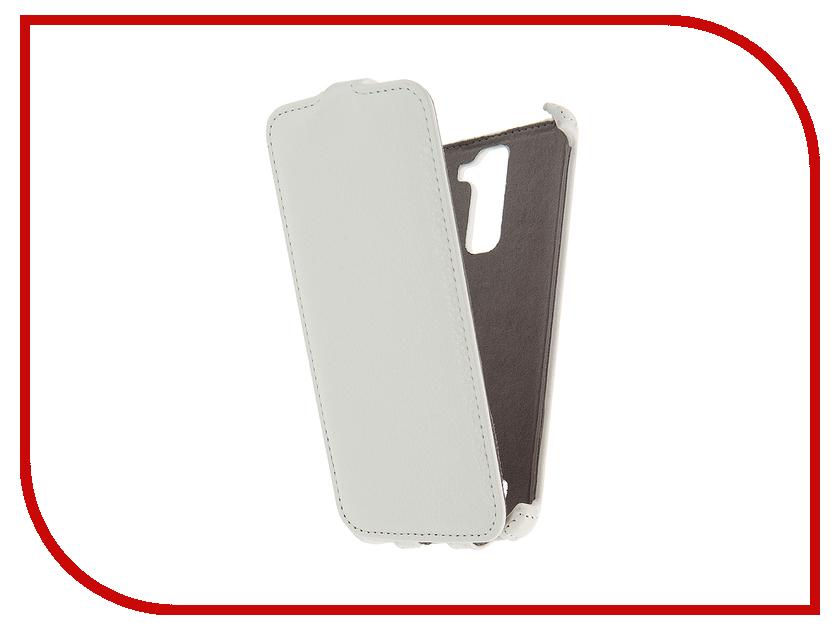 Аксессуар Чехол LG K8 K350 Activ Flip Case Leather White 58535