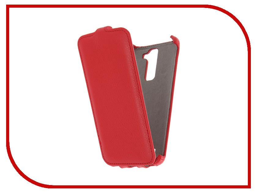 Аксессуар Чехол LG K8 K350 Activ Flip Case Leather Red 58534<br>