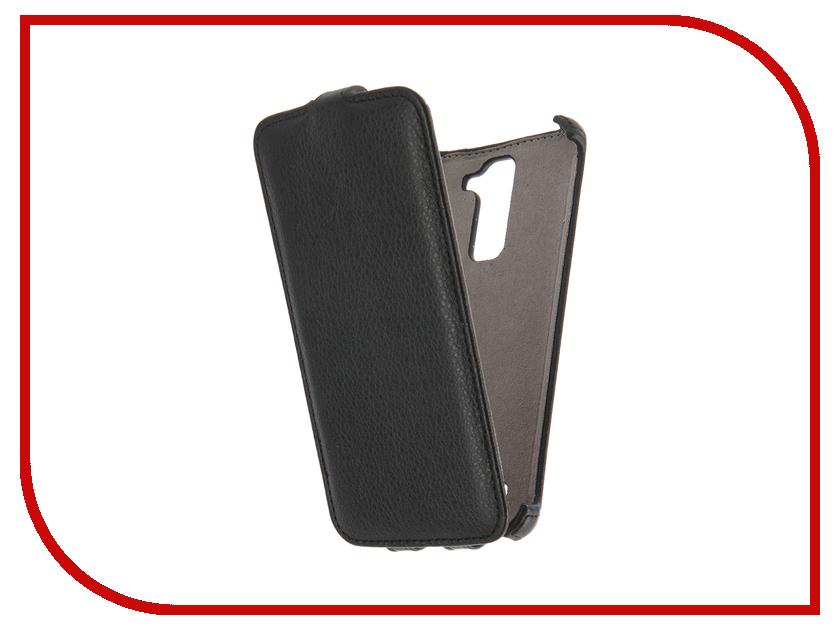 Аксессуар Чехол LG K8 K350 Activ Flip Case Leather Black 58533<br>