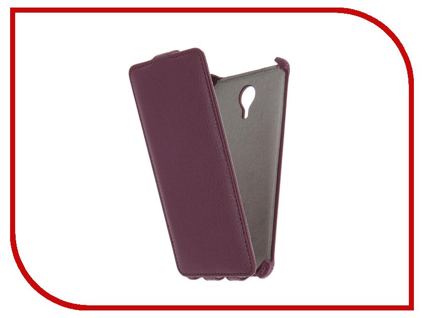 Аксессуар Чехол Meizu M3 Note Activ Flip Case Leather Violet 58543
