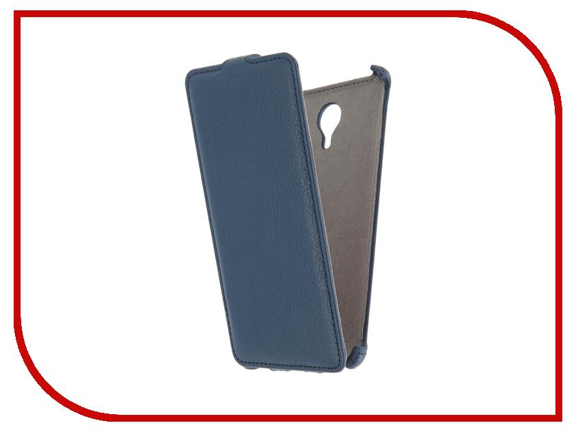 Аксессуар Чехол Meizu M3 Note Activ Flip Case Leather Blue 58542