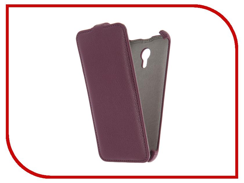 Аксессуар Чехол Meizu M2 Note Activ Flip Case Leather Violet 55360