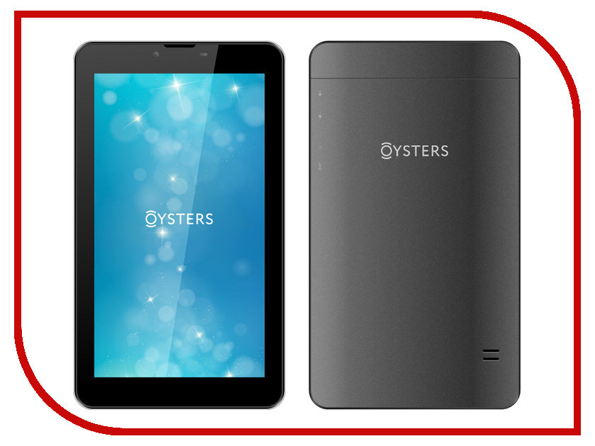 Планшет Oysters T74N Black MediaTek MTK8321 1.3 GHz/1024Mb/8Gb/3G/Wi-Fi/Bluetooth/Cam/7.0/1024x600/Android<br>