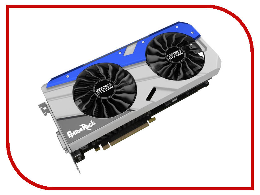 Видеокарта Palit GeForce GTX 1080 GameRock 1645Mhz PCI-E 3.0 8192Mb 10000Mhz 256 bit HDMI HDCP NEB1080T15P2-1040G видеокарта 6144mb msi geforce gtx 1060 gaming x 6g pci e 192bit gddr5 dvi hdmi dp hdcp retail