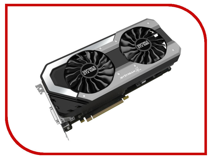 Видеокарта Palit GeForce GTX 1080 Super Jetstream 1708Mhz PCI-E 3.0 8192Mb 10000Mhz 256 bit HDMI HDCP NEB1080S15P2-1040J