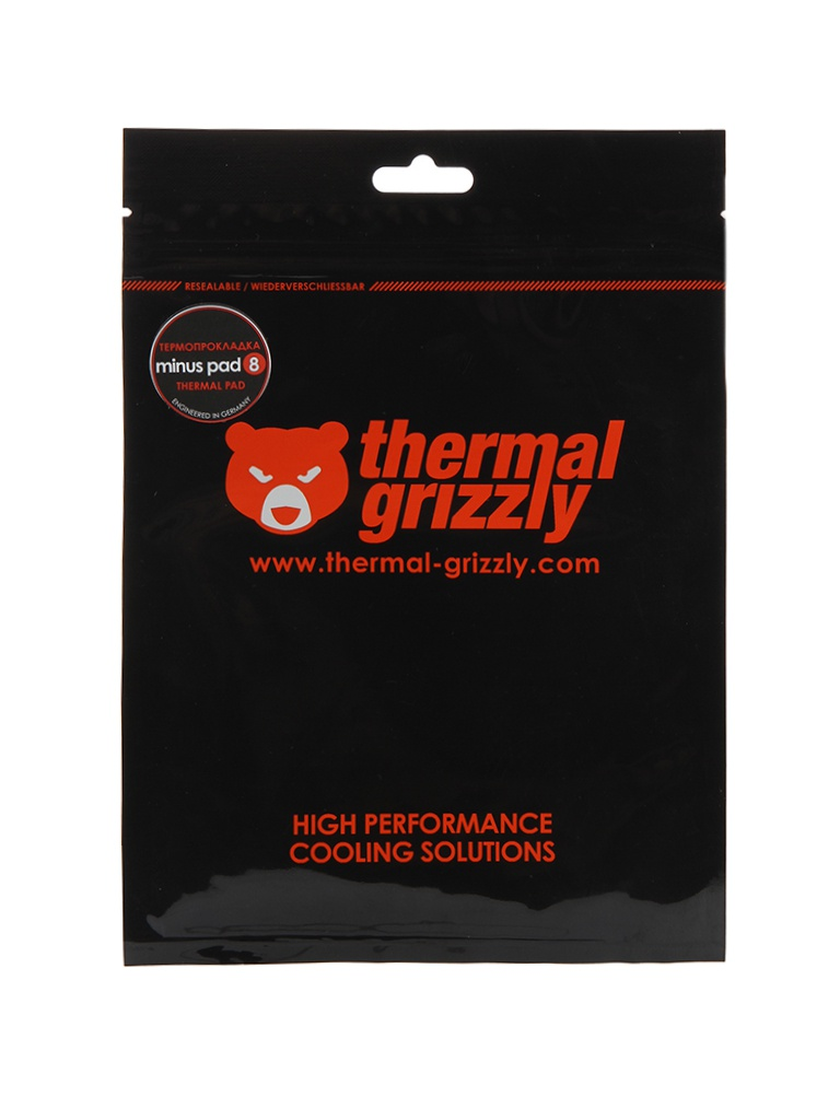 Термопрокладка Thermal Grizzly Minus Pad 8 100x100x1mm TG-MP8-100-100-10-1R
