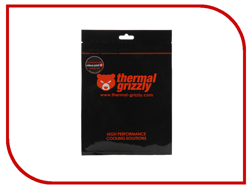 Термопрокладка Thermal Grizzly Minus Pad 8 30x30x1mm TG-MP8-30-30-10-1R thermal grizzly kryonaut thermal grease tg k 001 rs ru шприц 1 гр