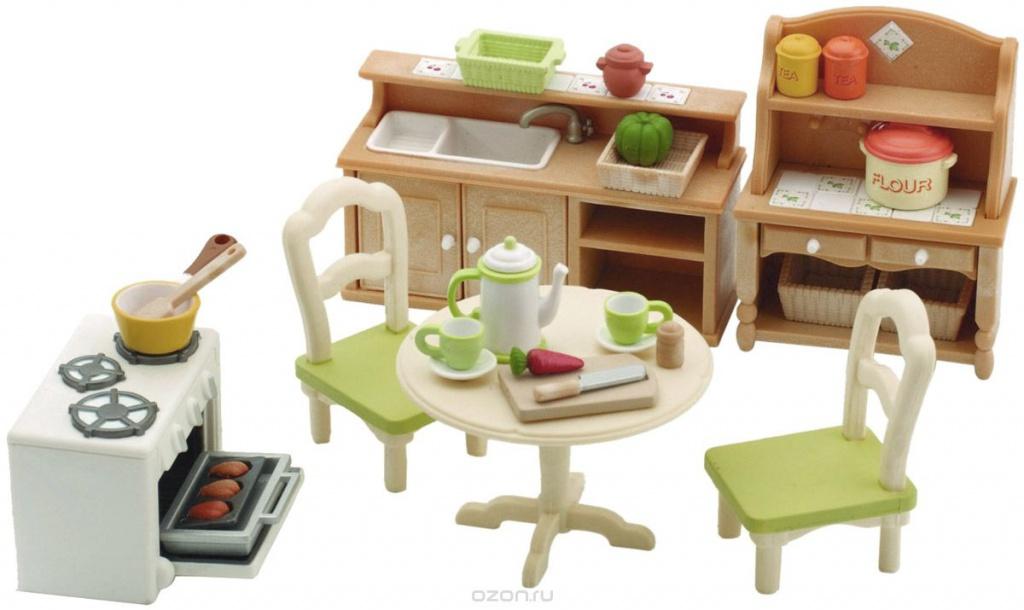 Игровой набор Sylvanian Families Кухня в коттедже 2951 / 5033 игровые наборы sylvanian families игровой набор малыш той пудель