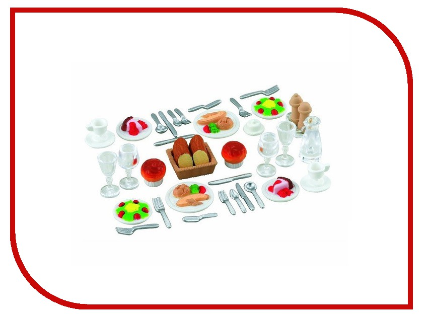 Игра Sylvanian Families Ужин 2818 игра sylvanian families мягкая мебель для гостиной 2922